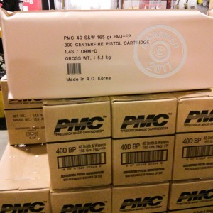 Photo of .40 Smith & Wesson FMJ ammo by PMC for sale.