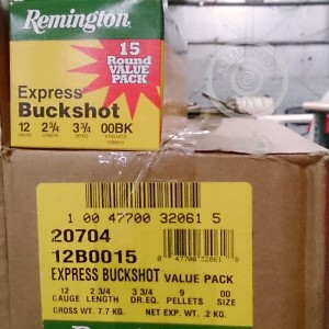 Photo of Remington shotgun ammo in 12 Gauge.