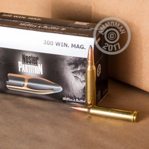 Photo of 300 Winchester Magnum Nosler Partition ammo by Sellier & Bellot for sale.