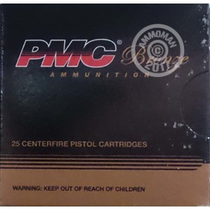 Image of PMC 10mm pistol ammunition.