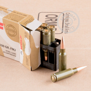 Photo of 6.5 Grendel FMJ ammo by Wolf for sale.