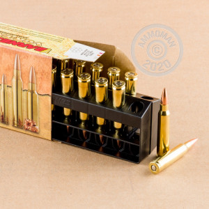 An image of 5.56x45mm ammo made by Barnes at AmmoMan.com.