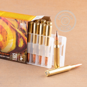 A photograph of 20 rounds of 150 grain 270 Winchester ammo with a Fusion bullet for sale.
