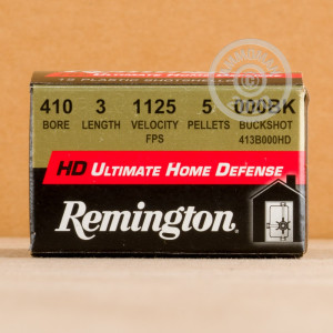 Photo showing 15 rounds of 410 Bore ammo made by Remington.