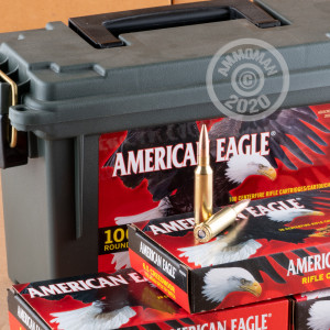 Image of the 6.5 CREEDMOOR FEDERAL AMERICAN EAGLE AMMO CAN 120 GRAIN OTM (100 ROUNDS) available at AmmoMan.com.