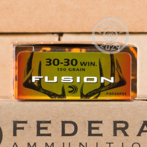 Image of 30-30 Winchester ammo by Federal that's ideal for whitetail hunting.