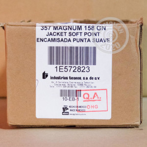 An image of 357 Magnum ammo made by Aguila at AmmoMan.com.