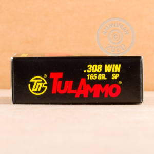 Image of 308 / 7.62x51 ammo by Tula Cartridge Works that's ideal for hunting wild pigs, training at the range, whitetail hunting.