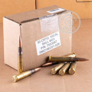 Image of .50 BMG ammo by Lake City that's ideal for training at the range.