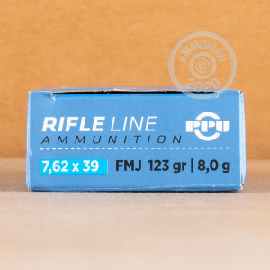 Photo of 7.62 x 39 FMJ ammo by Prvi Partizan for sale.