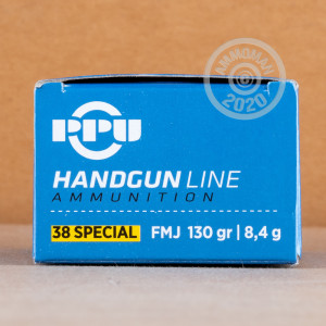 Image of 38 Special ammo by Prvi Partizan that's ideal for precision shooting, shooting indoors, training at the range.