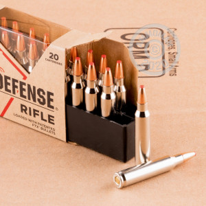 Photograph showing detail of 223 REM HORNADY CRITICAL DEFENSE 55 GRAIN FTX (20 ROUNDS)