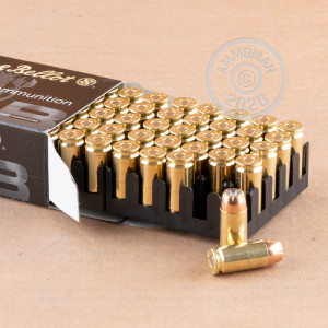 Photo of .40 Smith & Wesson JHP ammo by Sellier & Bellot for sale at AmmoMan.com.