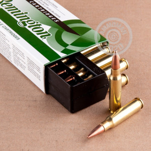 A photo of a box of Remington ammo in 308 / 7.62x51.