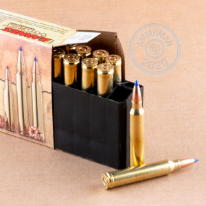 A photograph of 20 rounds of 150 grain 300 Winchester Magnum ammo with a TTSX bullet for sale.
