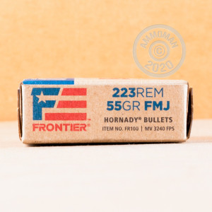 Image of 223 REM HORNADY FRONTIER 55 GRAIN FMJ (500 ROUNDS)