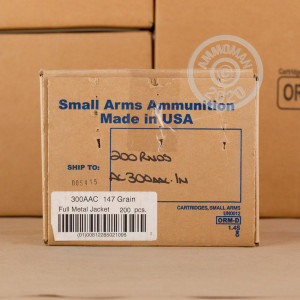 Photo of 300 AAC Blackout FMJ ammo by Armscor for sale.