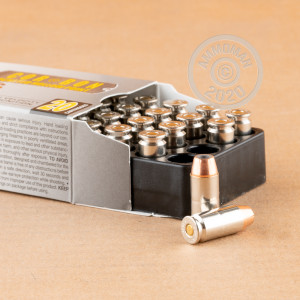 A photograph of 20 rounds of 150 grain .40 Smith & Wesson ammo with a JHP bullet for sale.