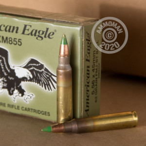 Image of the 5.56 LAKE CITY 62 GRAIN FULL METAL JACKET (500 ROUNDS) available at AmmoMan.com.