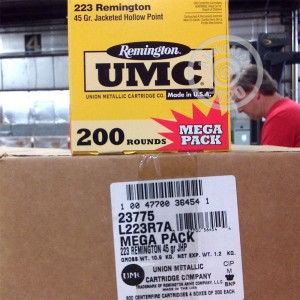 Image of .223 REMINGTON UMC MEGA PACK 45 GRAIN JHP (200 ROUNDS)