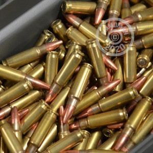 A photograph detailing the bulk 5.56x45mm ammo with Unknown bullets made by Mixed.