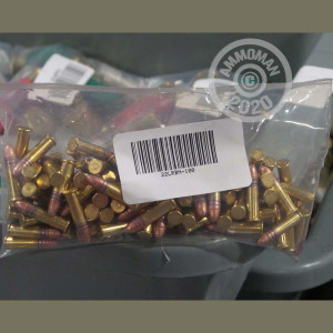 Photograph of .22 Long Rifle ammo with Unknown ideal for training at the range.