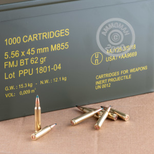 An image of 5.56x45mm ammo made by Prvi Partizan at AmmoMan.com.