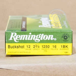#1 BUCK shotgun rounds for sale at AmmoMan.com - 5 rounds.