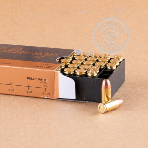 A photograph of 50 rounds of 71 grain .32 ACP ammo with a FMJ bullet for sale.