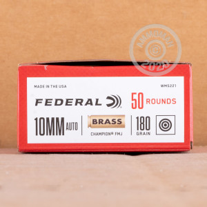 Photo of 10mm FMJ ammo by Federal for sale at AmmoMan.com.