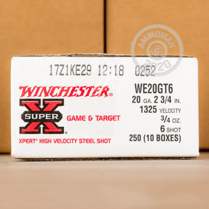 Photograph of Winchester 20 Gauge #6 shot for sale at AmmoMan.com