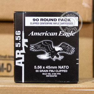 Photograph showing detail of 5.56 NATO FEDERAL AMERICAN EAGLE 55 GRAIN FMJ (90 ROUNDS)