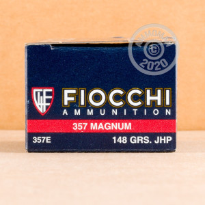 Image of 357 Magnum ammo by Fiocchi that's ideal for home protection.