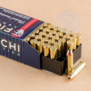 An image of 357 Magnum ammo made by Fiocchi at AmmoMan.com.