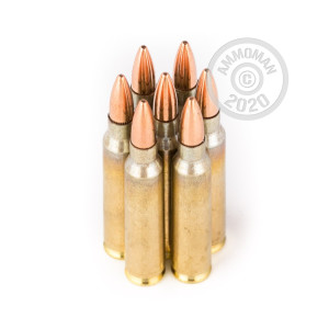Image of the 223 REM WOLF GOLD 55 GRAIN FMJ (1000 ROUNDS) available at AmmoMan.com.