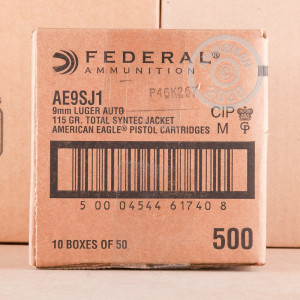 Image of 9MM FEDERAL SYNTECH 115 GRAIN TOTAL SYNTHETIC JACKET (50 ROUNDS)