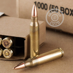 Image of the 5.56 WINCHESTER 55 GRAIN M-193 FMJ (1000 ROUNDS) available at AmmoMan.com.
