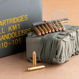 Image of Military Surplus .30 Carbine rifle ammunition.