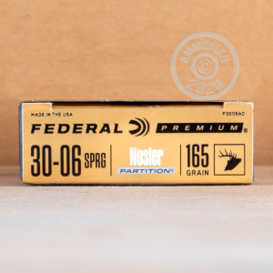 Photo of 30.06 Springfield soft point ammo by Federal for sale.