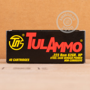 Image of the 223 REMINGTON TULA 62 GRAIN HP (40 ROUNDS) available at AmmoMan.com.