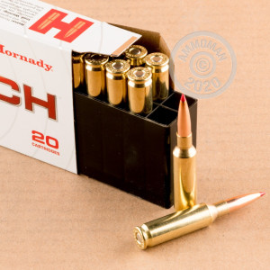 Photograph showing detail of 6.5 CREEDMOOR HORNADY 140 GRAIN ELD MATCH (200 ROUNDS)