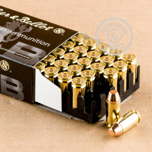 A photo of a box of Sellier & Bellot ammo in .40 Smith & Wesson.