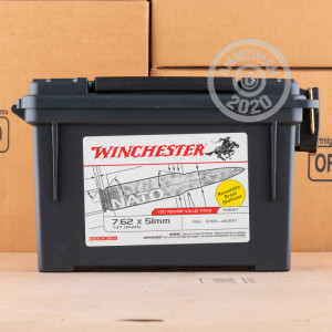 Image of bulk 308 / 7.62x51 ammo by Winchester that's ideal for training at the range.