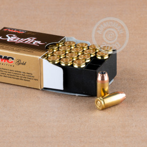 A photograph of 20 rounds of 95 grain .380 Auto ammo with a JHP bullet for sale.