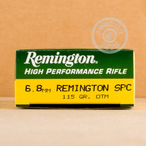 An image of 6.8 SPC ammo made by Remington at AmmoMan.com.