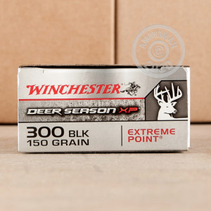 Photograph showing detail of 300 AAC BLACKOUT WINCHESTER DEER SEASON XP 150 GRAIN EXTREME POINT (200 ROUNDS)