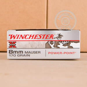 Photo of 8mm Mauser JS Power-Point (PP) ammo by Winchester for sale.