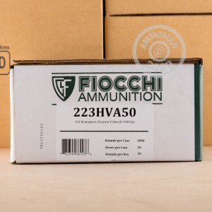 Image of the .223 REMINGTON FIOCCHI EXTREMA V-MAX 50 GRAIN JHP (50 ROUNDS) available at AmmoMan.com.