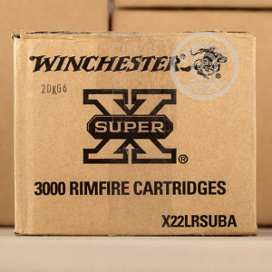 rounds of .22 Long Rifle ammo with Truncated Cone Hollow Point bullets made by Winchester.