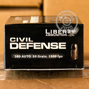 Image detailing the nickel-plated brass case and boxer primers on the Liberty Ammunition ammunition.